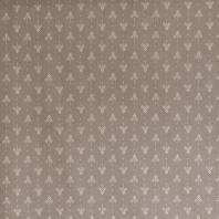 Coton taupe motifs géométriques