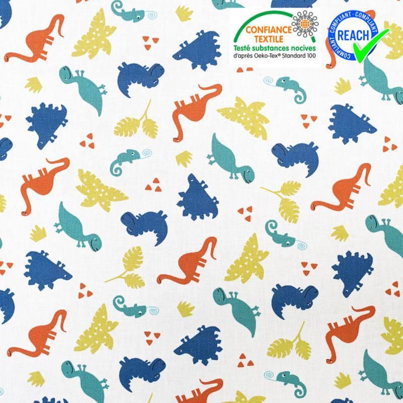 tissu motif dinosaure