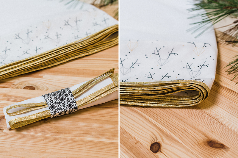 Tuto nappe et serviettes de no l - Ensemble nappe et serviette de table ...