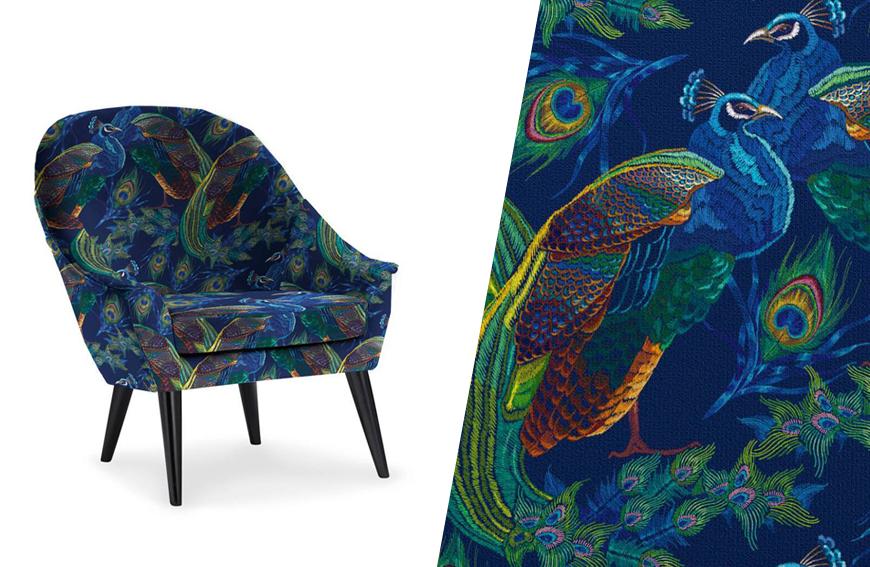 tissu velours pour fauteuil